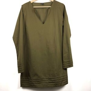 Patagonia Tunic Top Army Green V-Neck 10 Cover Up